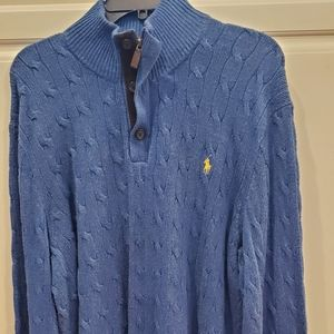 Polo Ralph Lauren Tussah Silk Cable Sweater XL